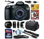 Canon EOS 60D 18 MP CMOS Digital SLR Camera with 18-135mm f/3.5-5.6 IS UD Lens includes 32GB Memory + 2.2x Telephoto + 0