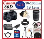 Canon EOS 60D 18 MP CMOS Digital SLR Camera with Canon EF-S 18-135mm Lens + Essential 8GB Accessory Kit Package