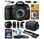 Canon EOS 60D 18 MP CMOS Digital SLR Camera with EF-S 18-200mm f/3.5-5.6 IS Lens includes 32GB Memory + 2.2x Telephoto + 0