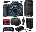 Canon EOS 7D 18 MP CMOS Digital SLR Camera with 18-135mm f/3.5-5.6 IS UD and EF 75-300mm f/4-5