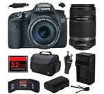 Canon EOS 7D 18 MP CMOS Digital SLR Camera with 18-135mm f/3.5-5.6 IS UD and EF-S 55-250mm f/4-5