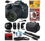 Canon EOS 7D 18 MP CMOS Digital SLR Camera with 18-135mm f/3.5-5.6 IS UD Lens includes 16GB Memory + 2.2x Telephoto + 0