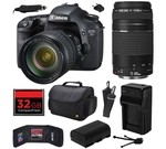 Canon EOS 7D 18 MP CMOS Digital SLR Camera with 28-135mm f/3.5-5.6 IS USM and EF 75-300mm f/4-5