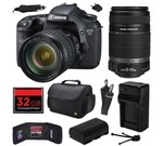 Canon EOS 7D 18 MP CMOS Digital SLR Camera with 28-135mm f/3.5-5.6 IS USM and EF-S 55-250mm f/4-5