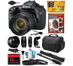 Canon EOS 7D 18 MP CMOS Digital SLR Camera with 28-135mm f/3.5-5.6 IS USM Lens includes 16GB Memory + 2.2x Telephoto + 0