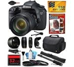 Canon EOS 7D 18 MP CMOS Digital SLR Camera with 28-135mm f/3.5-5.6 IS USM Lens includes 32GB Memory + 2.2x Telephoto + 0