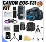 Canon EOS Rebel T3i 18 MP CMOS Digital SLR Camera and DIGIC 4 Imaging with EF-S 18-55mm IS Lens & Canon EF 75-300mm Telephoto Zoom Lens (2 Lens Kit!) W/16GB SD