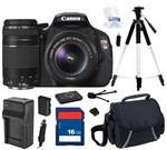 Canon EOS REBEL T3i Black 18 MP Digital SLR Camera with 18-55mm IS II Lens and Canon EF 75-300mm f/4.0-5