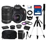 Canon EOS REBEL T3i Black 18 MP Digital SLR Camera with 18-55mm IS II Lens and Canon EF-S 55-250mm f/4-5
