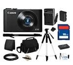 Canon Everything You Need Kit 6351B001, PowerShot S110 Black Approx. 12