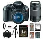 Canon t3 EOS Rebel T3 12.2 MP CMOS Digital SLR Camera with EF-S 18-55mm f/3.5-5.6 IS II Zoom Lens & EF 75-300mm f/4-5