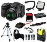 Nikon COOLPIX L830 16 MP Camera + 16 GB LED Light Tripod/Backpack Bundle Kit