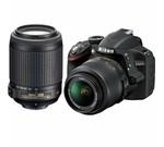 Nikon D3200 24.2 MP CMOS Digital SLR Camera with 18-55mm f/3.5-5.6G AF-S DX VR and 55-200mm f/4-5