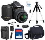 Nikon D3200 Black 24.2 MP CMOS Digital SLR Camera with 18-55mm Lens and Nikon AF-S DX VR Zoom-Nikkor 55-200mm f/4-5
