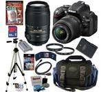 Nikon D5200 24.1 MP CMOS Digital SLR Camera (Black) with 18-55mm f/3.5-5.6G AF-S DX VR Lens and Sigma 70-300mm f/4-5