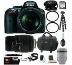 Nikon D5300 24.2 MP CMOS Digital SLR Camera with 18-140mm f/3.5-5.6G ED VR AF-S DX NIKKOR Zoom Lens (Black) + Sigma 70-300mm f/4-5