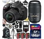 Nikon D5300 24.2 MP CMOS Digital SLR Camera with 18-55mm f/3.5-5.6G ED VR II AF-S DX NIKKOR Zoom Lens & Nikon AF-S NIKKOR 55-300mm f/4.5-5