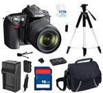 Nikon D90 Black 12.3 MP Digital SLR Camera w/ AF-S DX NIKKOR 18-105mm f/3.5-5