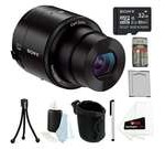 Sony DSC-QX100 QX100 20MP Smartphone Interchangeable Attachable DSLR Lens-Style Camera with 3