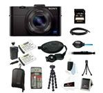 Sony RX100 DSC-RX100M II Cyber-shot Digital Still Camera Bundle with Sony 32GB Memory Card + Wasabi Power Replacement Battery for Sony DSC-RX1 + Sony Black Carr