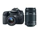 Canon 70d EOS 70D 20.2 MP DSLR Camera with EF-S 18-55mm IS STM and Dual Pixel CMOS AF + Canon EF-S 55-250mm f/4.0-5