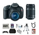 Canon EOS Rebel T3i 18 MP CMOS Digital SLR Camera with EF-S 18-55mm f/3.5-5.6 IS II Zoom Lens & EF-S 55-250mm f/4.0-5