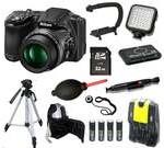 Nikon COOLPIX L830 16 MP Camera + 32 GB LED Light Tripod/Backpack Bundle Kit