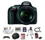 Nikon D5300 24.2 MP CMOS Digital SLR Camera with 18-55mm AF-S DX NIKKOR Zoom Lens + 10 Piece Accessory Bundle.