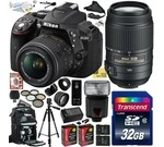 Nikon D5300 24.2 MP CMOS Digital SLR Camera with 18-55mm f/3.5-5.6G ED VR II AF-S DX NIKKOR Zoom Lens & Nikon 55-300mm f/4.5-5