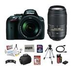 Nikon D5300 24.2 Mp Digital SLR Camera with NIKKOR 18-140mm F/3.5-5.6 Af-s Dx Vr Nikkor Zoom Lens + Nikon 55-300mm F/4.5-5