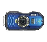 Ricoh WG-4 GPS blue 16 MP Digital Camera with 4x Optical Image Stabilized Zoom with 3-Inch LCD (Blue)