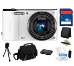 Samsung WB150F 14MP (White) SMART Long Zoom WiFi Digital Camera with 18x Optical Zoom, Everything You Need Kit, EC-WB150FBPWUS