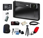 Sony DSC-TX30/B 18 MP Digital Camera (Black) + 16GB Memory Card Class 4 + Multi Card Reader Writer + NP-BN1 BATTERY F/ SONY + HDMI Standard to Micro Cable + Dig