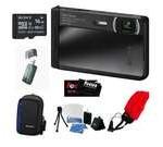 Sony DSC-TX30/B 18 MP Digital Camera w/ 5x Optical Image Stabilized Zoom and 3