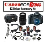Super Pro Package Featuring Canon EOS Rebel T3 12.2 MP Digital Camera, Sigma 70-300mm f/4-5