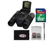 Vivitar 12x25 Binoculars with Built-in Digital Camera with 8GB Card + Monopod + Accessory Kit